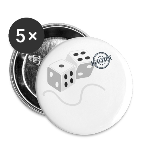 Dice - Symbols of Happiness - Buttons small 1''/25 mm (5-pack)