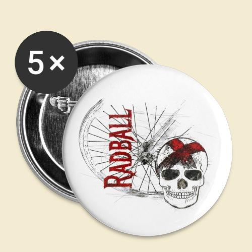 Radball | Cycle Ball Skull - Buttons klein 25 mm