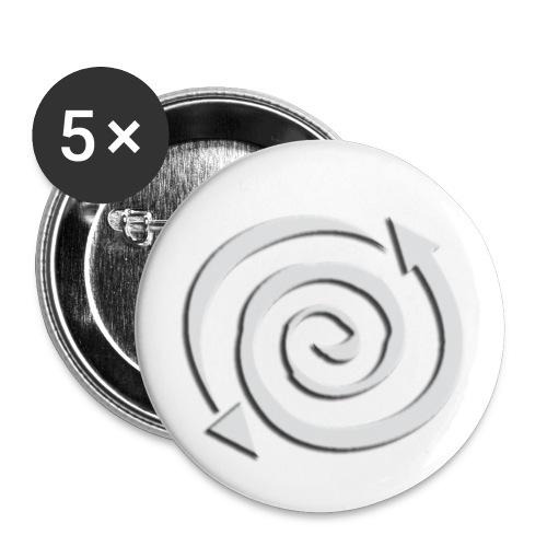 logo dechcre 01mgris biseau estamp cont - Lot de 5 petits badges (25 mm)