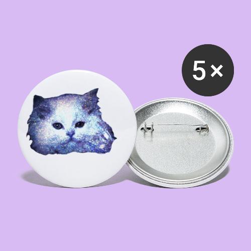Gatto glitter - Confezione da 5 spille piccole (25 mm)