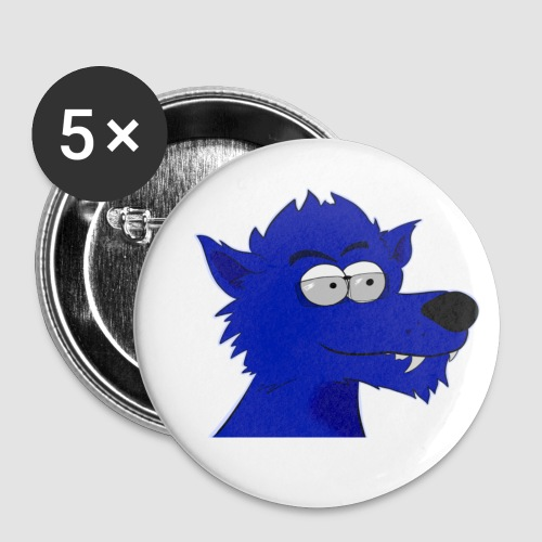 Wolfen head - Buttons small 25 mm