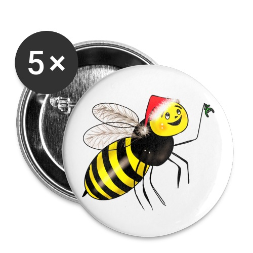 Christmas wasp - Buttons small 1''/25 mm (5-pack)
