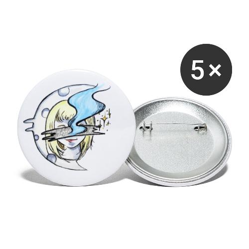 Mysterious Moon Lady - Buttons klein 25 mm (5er Pack)