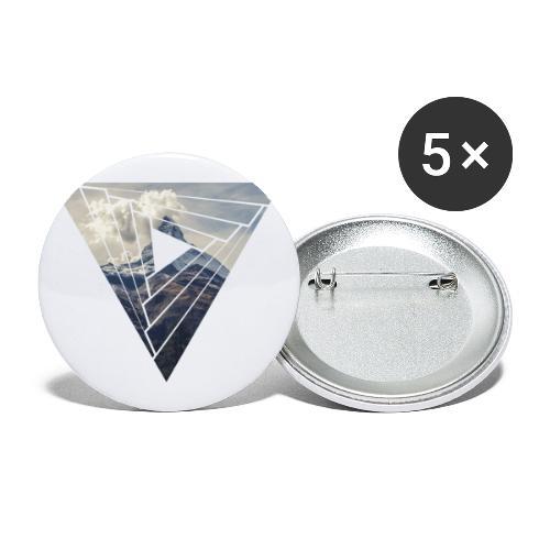 Matterhorn Zermatt Dreieck Design - Buttons klein 25 mm (5er Pack)