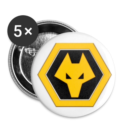 wolveslogo1 - Buttons small 1''/25 mm (5-pack)