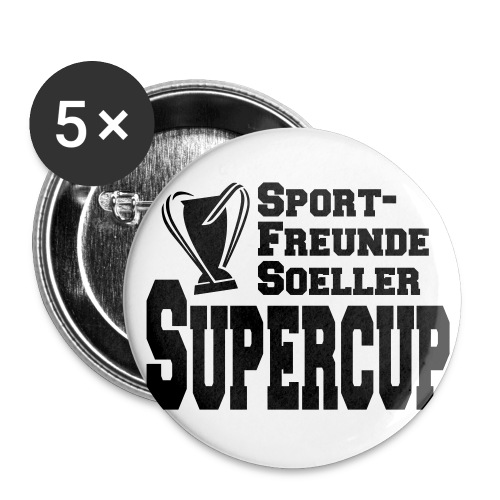 Sporfreunde Supercup - Buttons klein 25 mm (5er Pack)