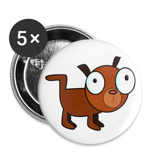 dog dawg animal 1979px png - Buttons klein 25 mm (5-pack)