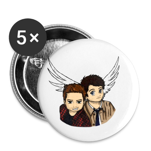 Destiel i farver - Buttons/Badges lille, 25 mm (5-pack)