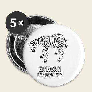 Zebra - Buttons klein 25 mm