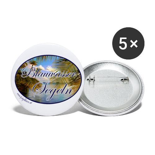 Blauwassersegeln - Buttons klein 25 mm (5er Pack)