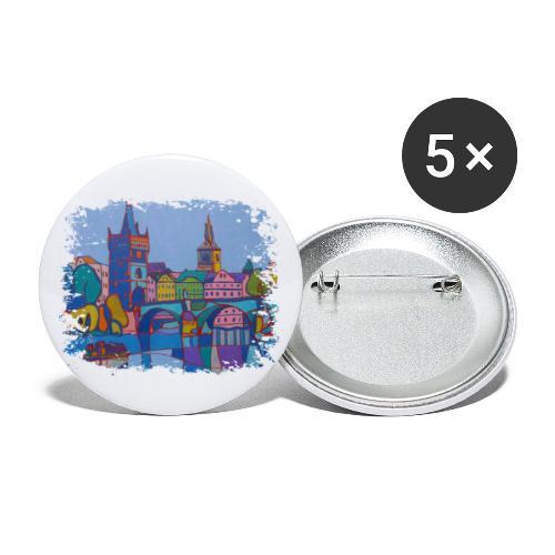 Prag - Buttons klein 25 mm (5er Pack)