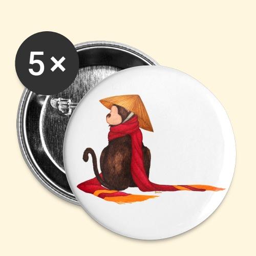 Un singe en hiver - Badge petit 25 mm