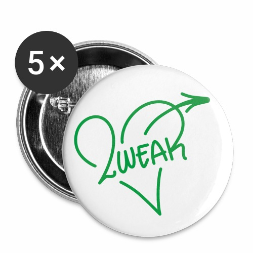Love for a green life - Buttons/Badges lille, 25 mm (5-pack)