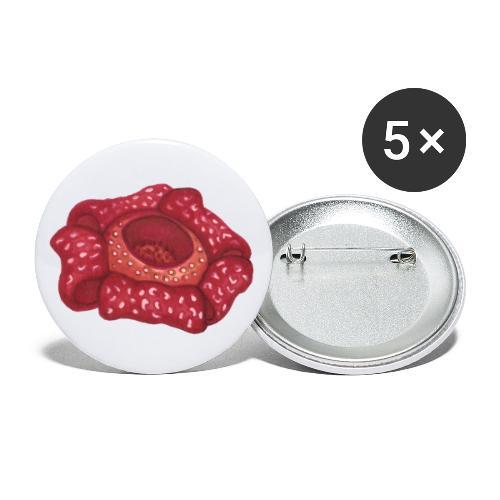 Rafflesia - Buttons klein 25 mm (5er Pack)