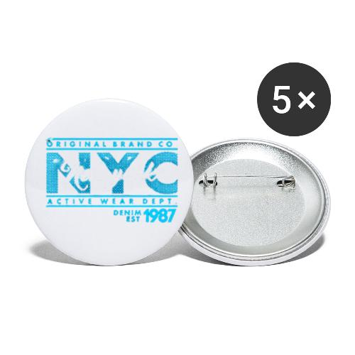 NYC New York - Buttons klein 25 mm (5er Pack)
