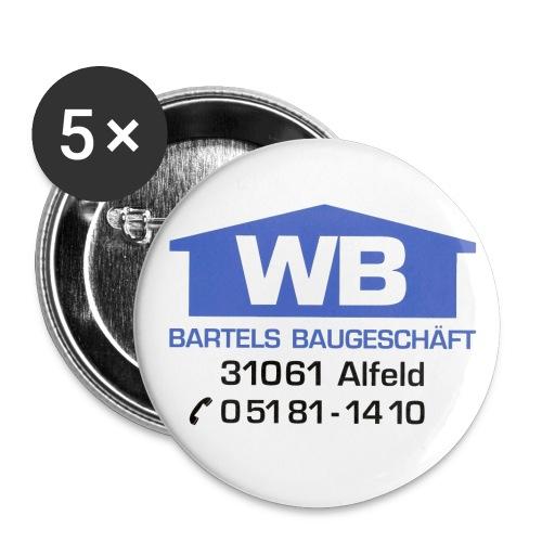 logo mit anschrift - Buttons klein 25 mm (5er Pack)