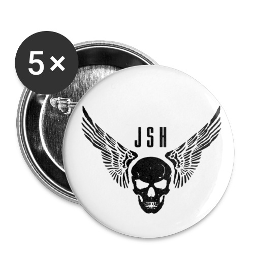 skullwings1 png - Buttons small 1''/25 mm (5-pack)
