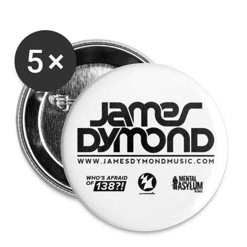 Final JD Shirt Design Black 4 png - Buttons small 1''/25 mm (5-pack)