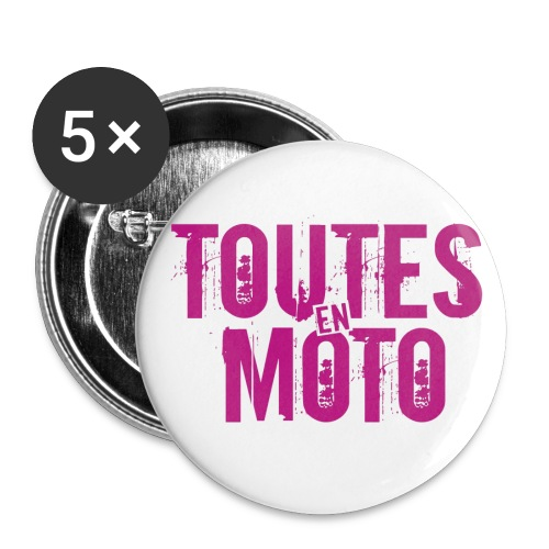 Logo TEM - Lot de 5 petits badges (25 mm)