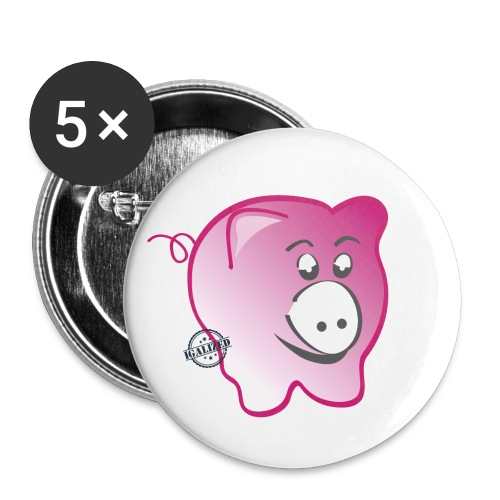Pig - Symbols of Happiness - Buttons small 1''/25 mm (5-pack)
