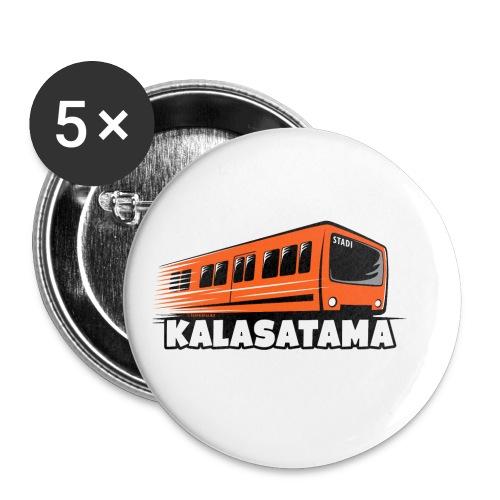 11- METRO KALASATAMA - HELSINKI - LAHJATUOTTEET - Rintamerkit pienet 25 mm (5kpl pakkauksessa)