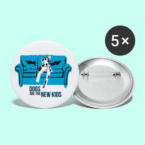 Dogs are the New Kids - Buttons klein 25 mm (5er Pack)