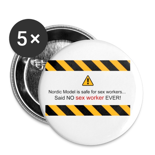 said no escort ever - Buttons small 1''/25 mm (5-pack)
