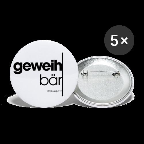 geweihbär 2019 - Buttons klein 25 mm (5er Pack)