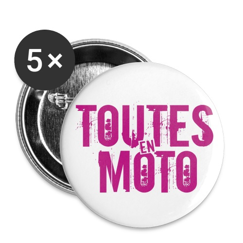 1 Logo TEM - Lot de 5 petits badges (25 mm)
