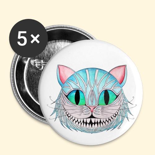 Le Chat de Cheshire - Badge petit 25 mm