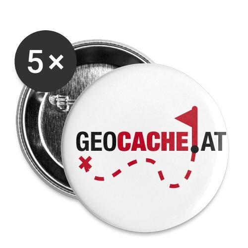 geocache at fett - Buttons klein 25 mm (5er Pack)
