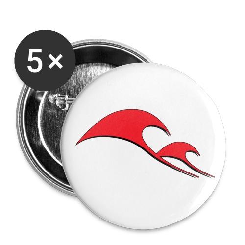 ondeREDI gif - Confezione da 5 spille piccole (25 mm)
