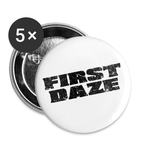 schriftzug transparent schwarz - Buttons klein 25 mm (5er Pack)