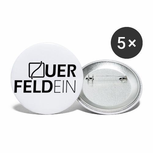 Querfeldein Logo - Buttons klein 25 mm (5er Pack)