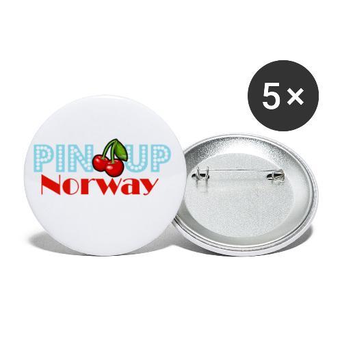 Pinup Norway Fan Club - Liten pin 25 mm (5-er pakke)