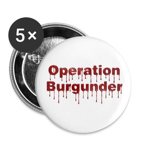 Operatin Burgunder neu - Buttons klein 25 mm (5er Pack)