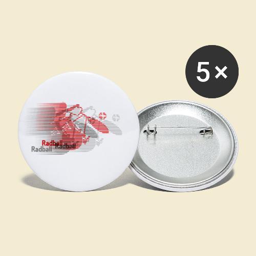 Radball   Earthquake Red - Buttons klein 25 mm (5er Pack)