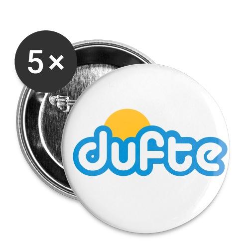 dufte Buttons - Buttons klein 25 mm (5er Pack)