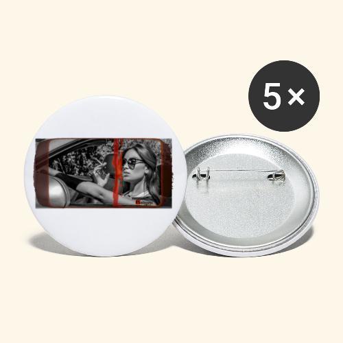 SUNGLASS - Lot de 5 petits badges (25 mm)