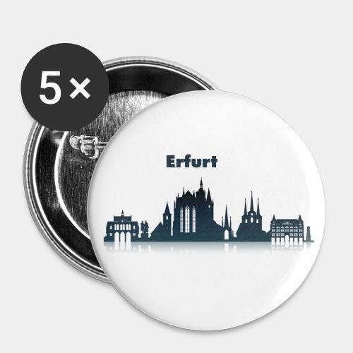 Erfurt Skyline mit Schriftzug - Buttons klein 25 mm (5er Pack)