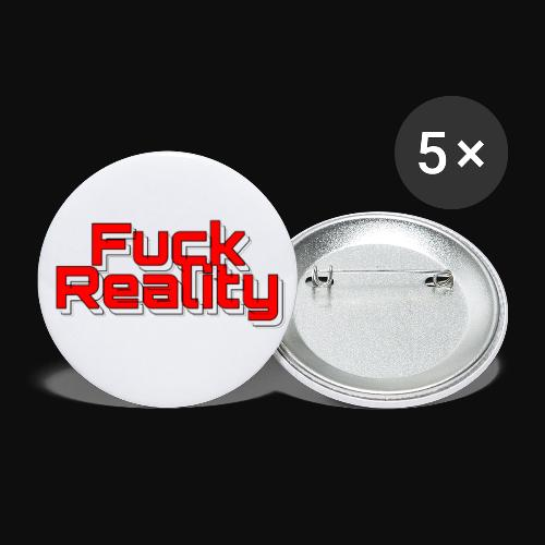 Fuck Reality (red ) - Buttons klein 25 mm (5er Pack)