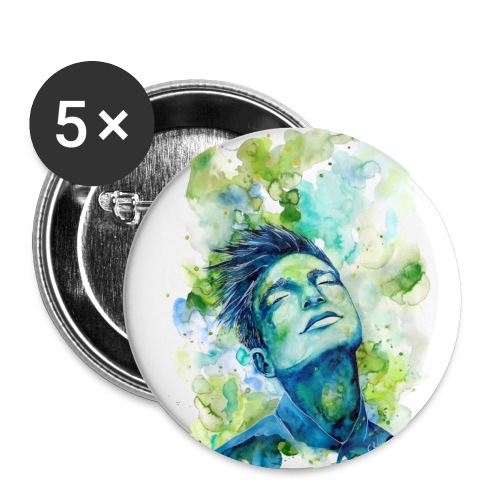 Dash by carographic - Buttons klein 25 mm (5er Pack)