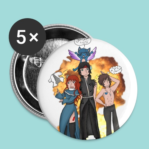 Commission - Fairy Tail - Buttons small 1''/25 mm (5-pack)