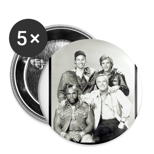 ateam 3 - Buttons klein 25 mm (5er Pack)