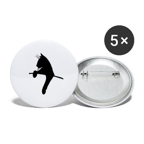 KittyCat - Buttons/Badges lille, 25 mm (5-pack)