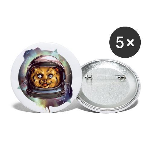 Cute astronaut kitten - Buttons small 1''/25 mm (5-pack)