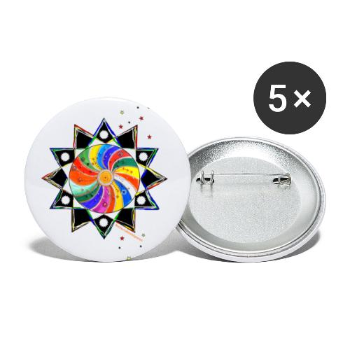 SternenZauber - Buttons klein 25 mm (5er Pack)