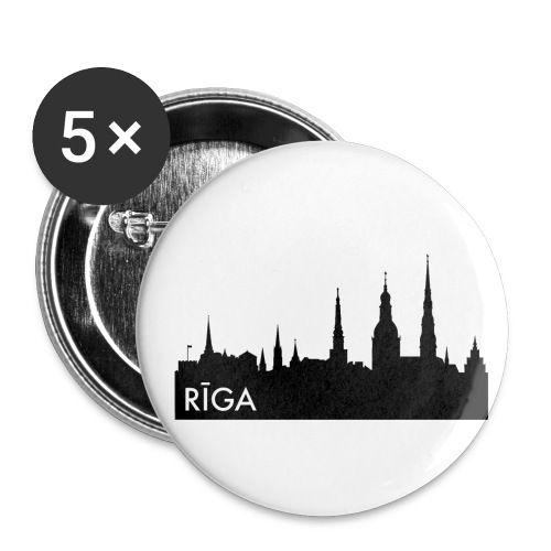 Riiga Pin - Buttons small 1''/25 mm (5-pack)