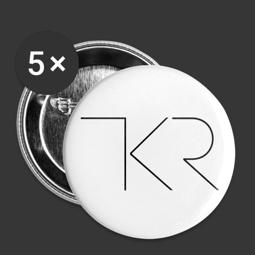TKR Logo Black - Buttons small 1''/25 mm (5-pack)