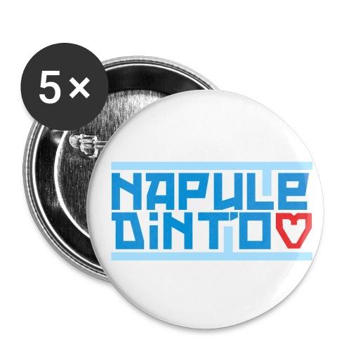 Napule dint'o Core - Confezione da 5 spille piccole (25 mm)